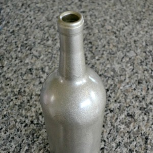DIY Spray Painted Wine Bottle