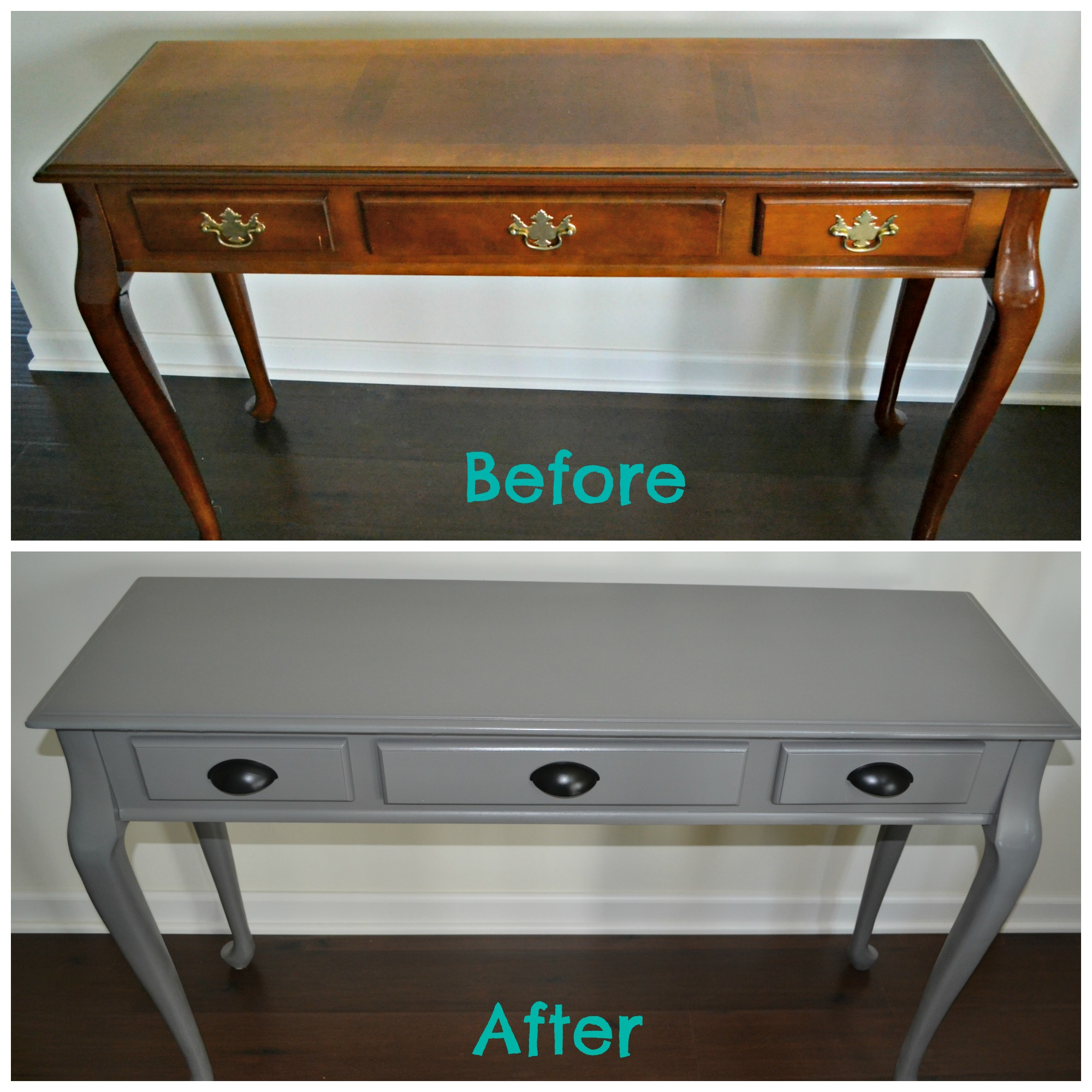 Diy Spray Painted Console Table How To Update Furniture With Spray Paint This Grateful Mama