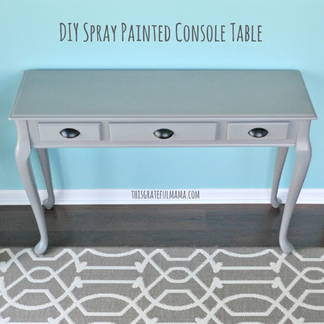DIY Spray Painted Console Table