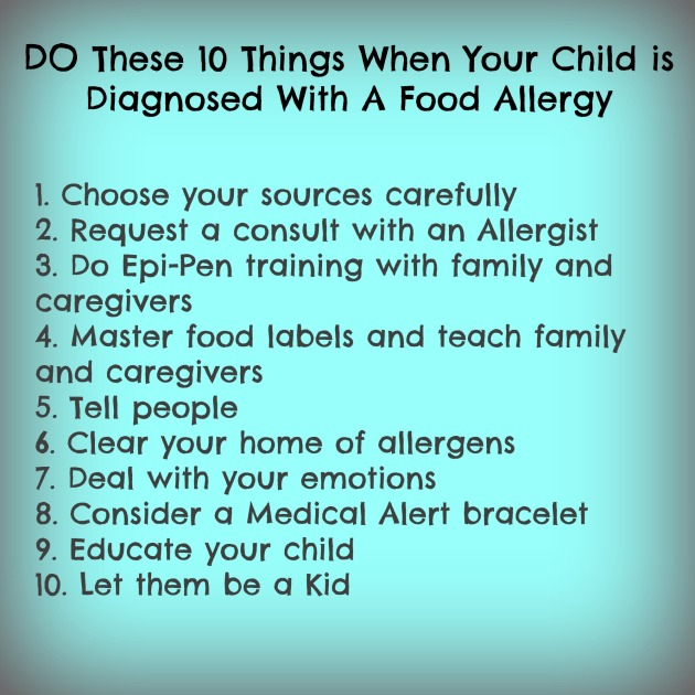 Do These 10 Things When Your Child is Diagnosed With A Food Allergy