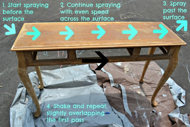 How to apply spray paint