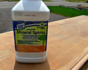 Use mineral spirits to clean all surfaces