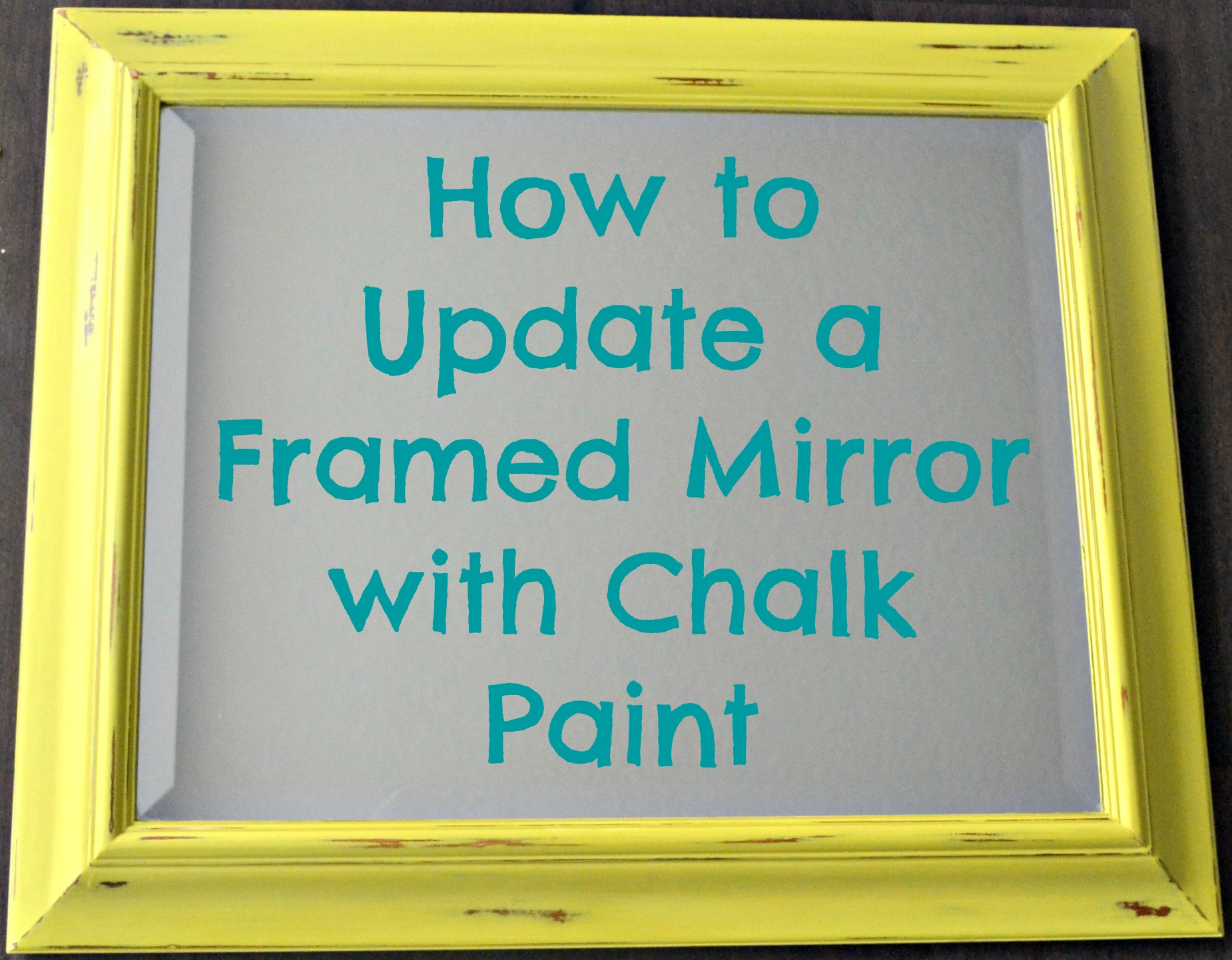 how to update a framed mirror with chalk paint this grateful mama. Black Bedroom Furniture Sets. Home Design Ideas