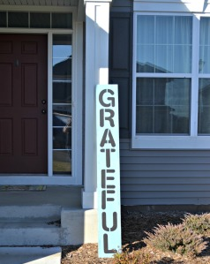 Completed GRATEFUL sign