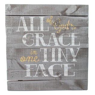 All Gods Grace in one Tiny Face sign from Hobby Lobby