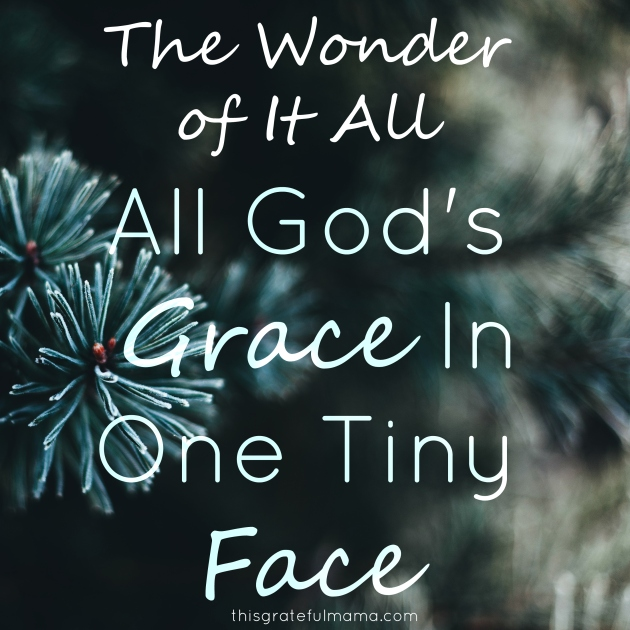 The Wonder of It All - All God's Grace In One Tiny Face | thisgratefulmama.com