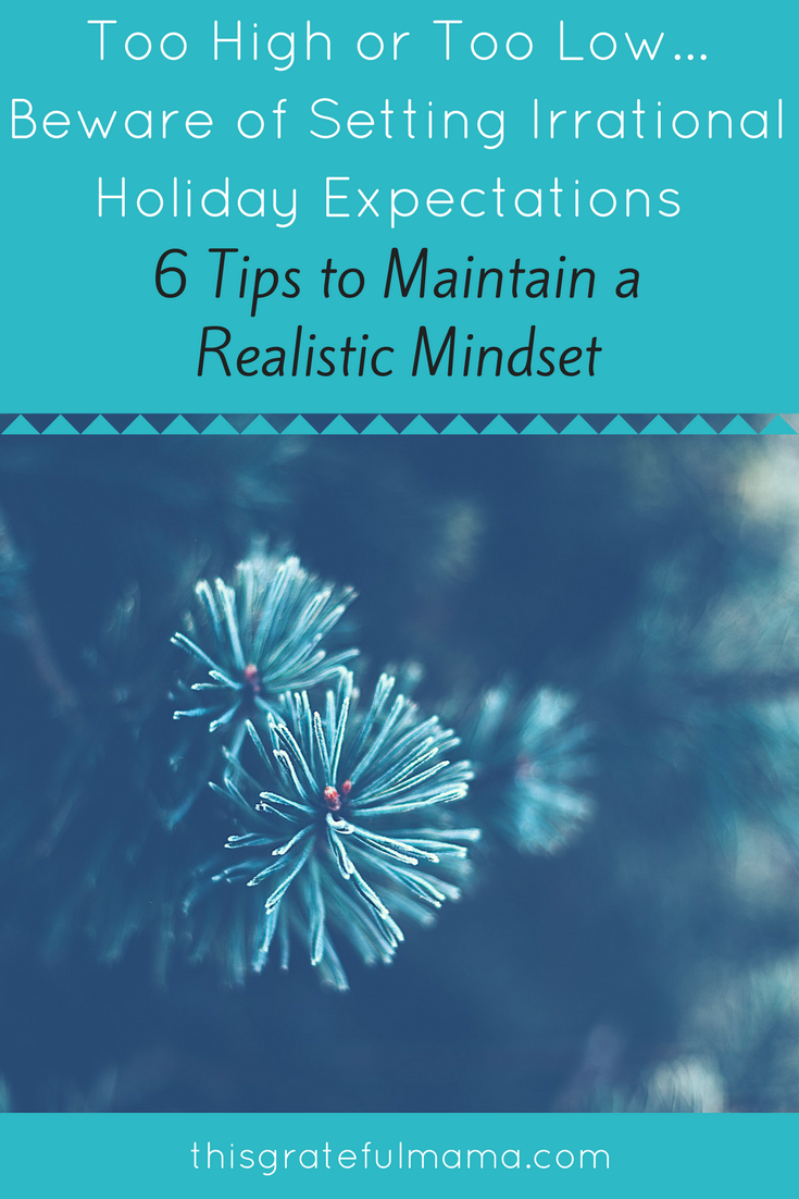 setting realistic holiday expectations essay Setting goals within a time frame will help you set deadlines for yourself set goals for a week, a month, a semester, each year (first-year, sophomore year , etc), and graduation every goal you set for yourself, too, should have some kind of time frame attached.