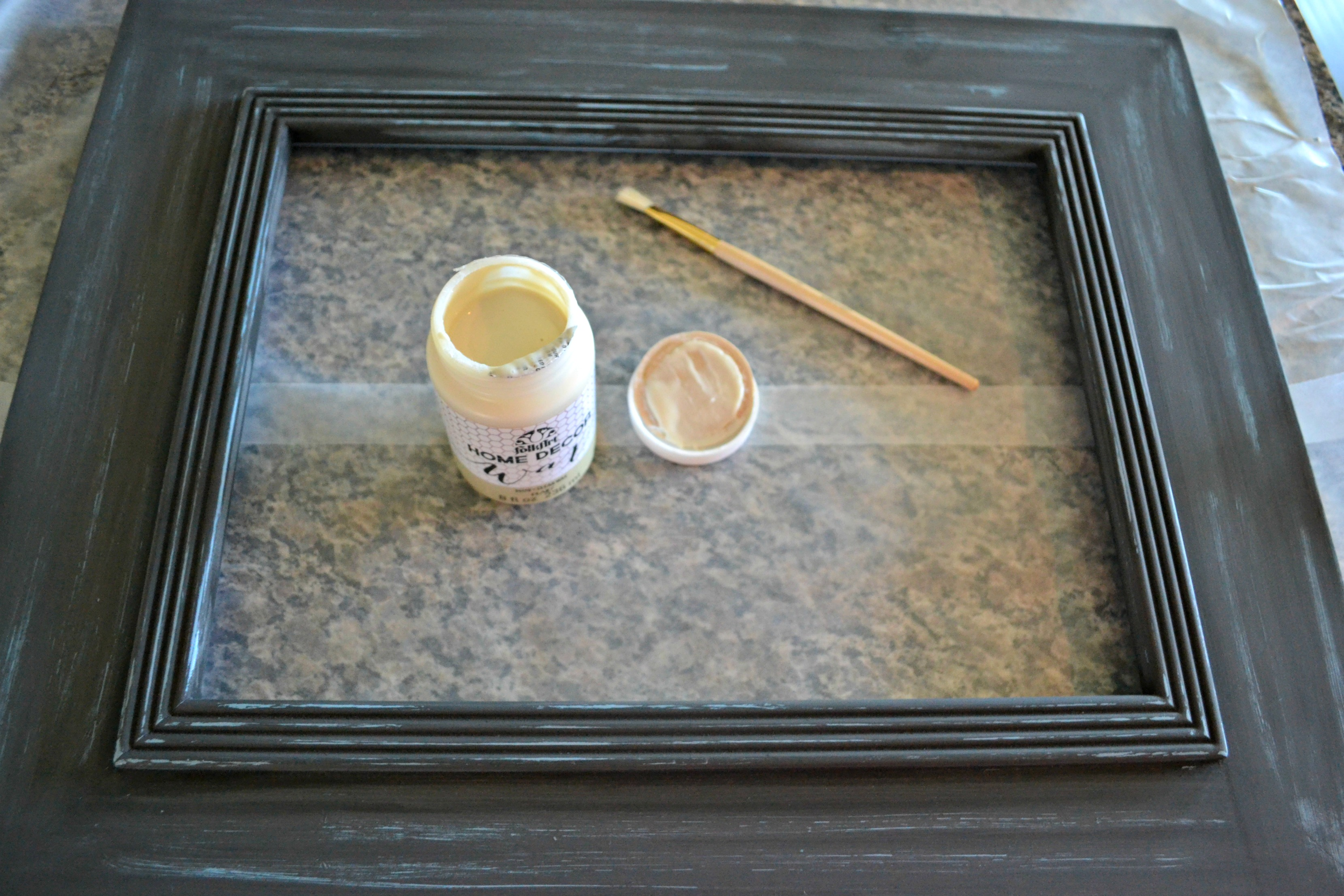painting picture frames. Frame1 painted Fun with Chalk Paint  Inexpensive Goodwill Picture Frame