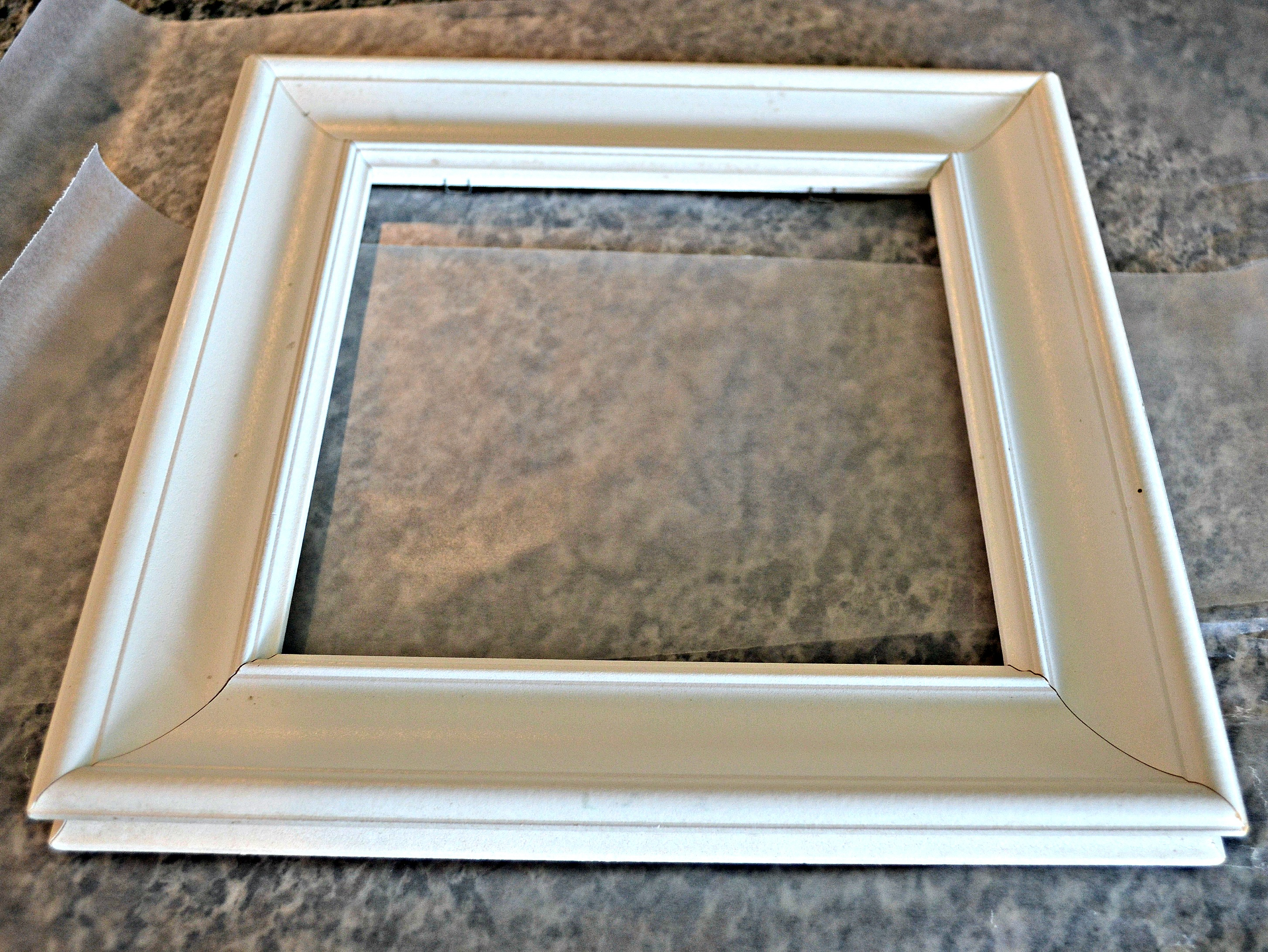 the plan was to give these frames a makeover and use them to display photographs of our kids a little chalk paint sanding and waxing and they cleaned up