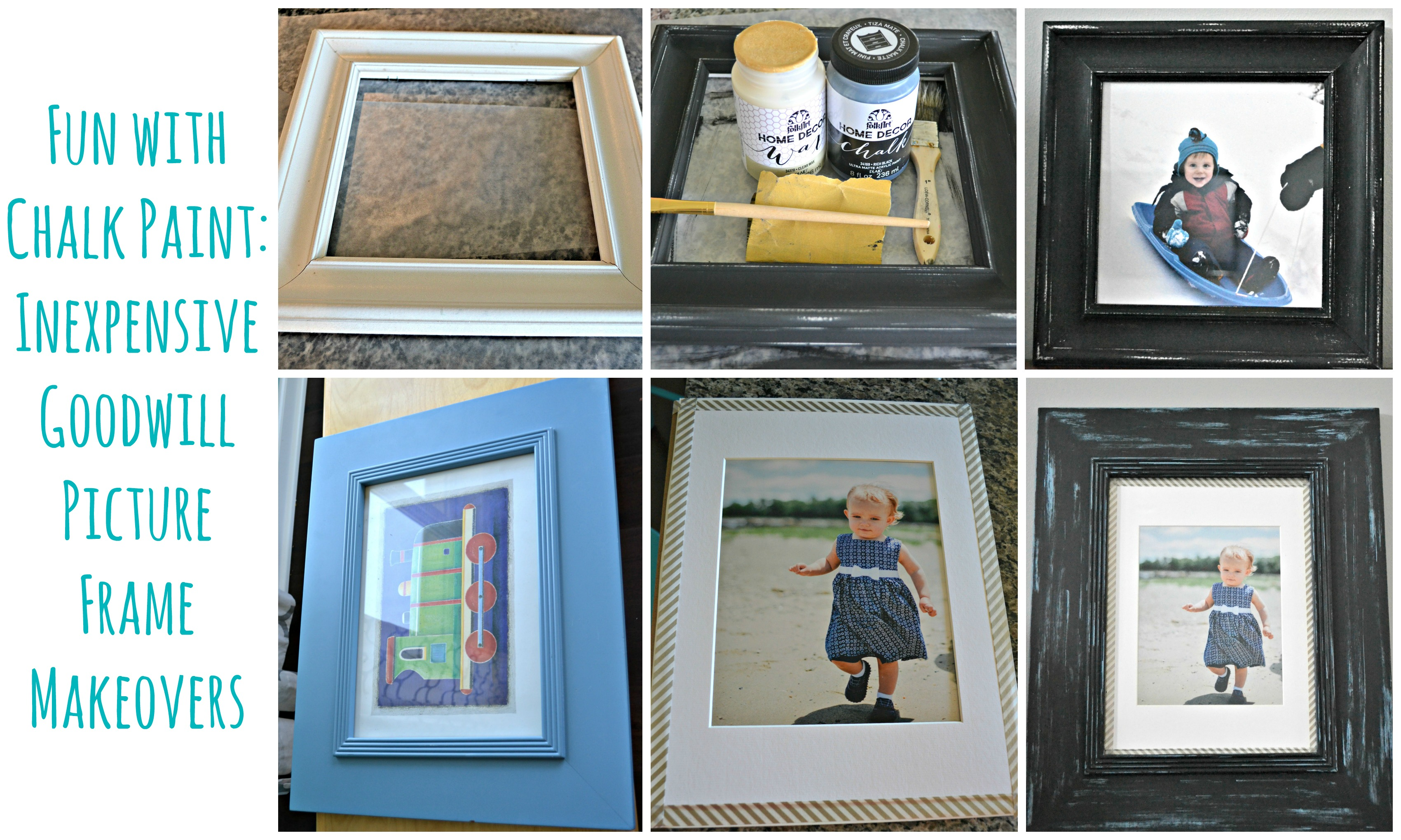 Fun with chalk paint inexpensive goodwill picture frame goodwill frame makeovers jeuxipadfo Choice Image