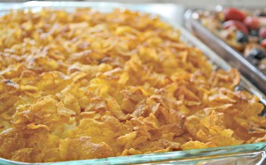 A Couple's Wedding Shower: A Make-Ahead, Crowd-Pleasing Brunch - Cheesy Hashbrowns | thisgratefulmama.com