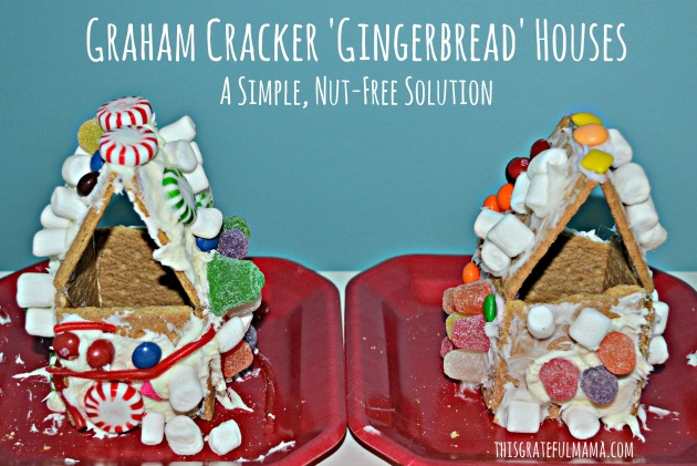 Graham Cracker Gingerbread Houses A Simple Nut Free Solution | thisgratefulmama.com