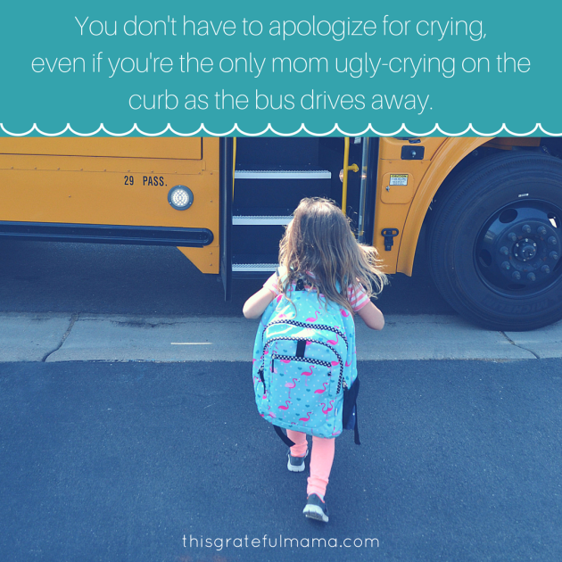 A Little Girl And A Big School Bus - Embracing The Moments (And Emotions) That Remind Us Our Children Are Growing Up | thisgratefulmama.com