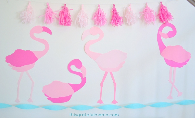 DIY Pink Flamingo Birthday Party DecoDIY Pink Flamingo Birthday Party Decorations and Free Printable Templates | thisgratefulmama.com